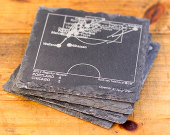 D.C. United Greatest Plays - Slate Coasters (Set of 4)