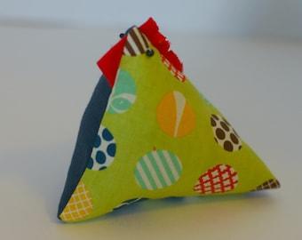 Pincushion, Pin cushion, chicken pin cushion, chicken pincushion, modern pincushion, modern pincushion, paperweight, paper weight