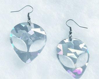 Holo Alien earrings