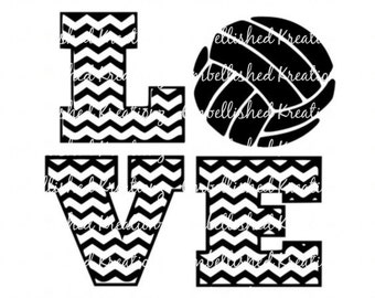 Volleyball/Daughter/'Volleyball LOVE'/Sports/Vinyl/Tumbler/Window Decal/Shirt/Car Decal/Volleyball Coach/Volleyball Gift