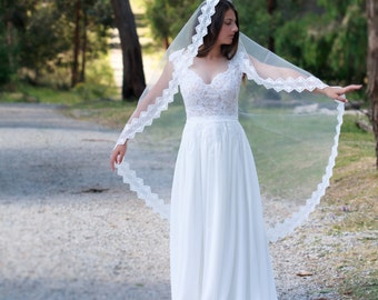 ANNABELLE - Mantilla, drop veil, tulle veil, veil, mantilla, traditional veil