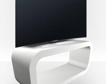 White Matt TV Stand - Hooptangle