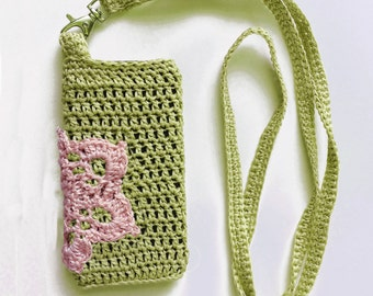 DIY Crochet Kit, Cell Phone cover, DIY Floral phone case, Crocheted cell phone case, Gadget Cover, iPhone Case, iPod case,  Knit Phone Sock