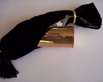 VINTAGE WADSWORTH'S PANDORA Black Velvet Sling Dance Purse Wristlet