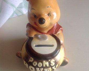 Vintage 1964 Walt Disney Productions Winnie the Pooh honey Bank