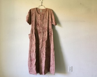 Vintage New 1980's Dress/ Made in India