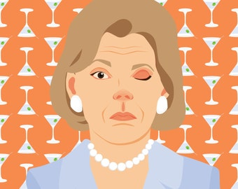 Lucille Bluth Limited Edition Arrested Development Print