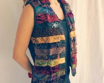 Enchanted pixie patchwork vest