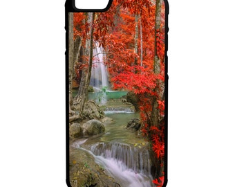 Waterfall Forest in Fall iPhone Galaxy Note LG HTC Hybrid Rubber Protective Case
