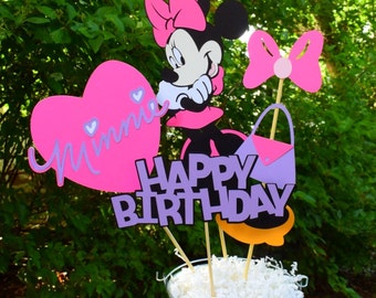 Minnie Mouse Birthday Table Centerpiece, Minnie Mouse Birthday Decorations, Party Decorations, Mickey Mouse Clubhouse Centerpiece