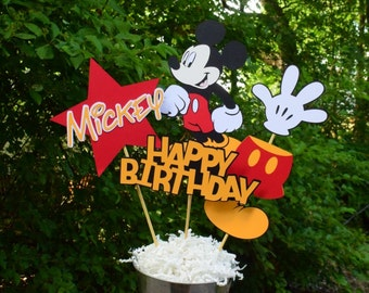 Mickey Mouse Birthday Table Centerpiece, Mickey Mouse Birthday Decorations, Party Decorations, Mickey Mouse Clubhouse