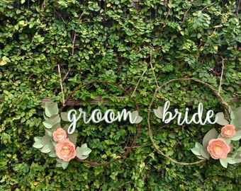 Paper Bride & Groom Wreath