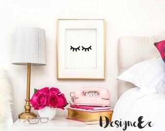 Quote Print - Sleepy Eyes