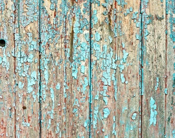 Peeling Old Wood Photography Backdrop, Weathered Painted Wood Planks Photo Background, Distressed Product Food photoshoot Floordrops D-9459