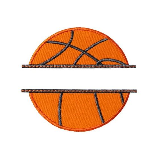 basketball name plate applique machine embroidery digital