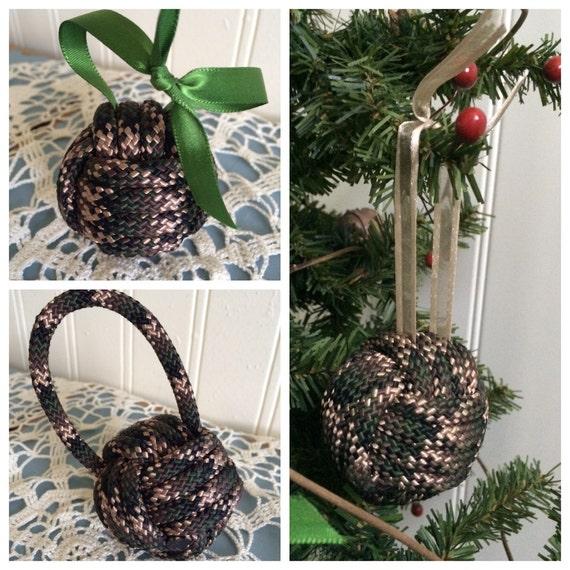Camo Christmas Ornaments Camo Monkey Fist Knots Monkey
