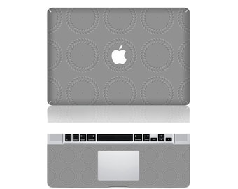 "Macbook Spiral illusion Decor Front & Wrist Sticker Vinyl Decal Cover For Macbook Pro 13"" Comes with free keyboard cover and gift"