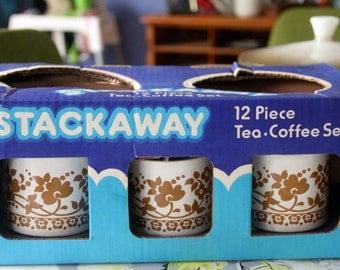Stackaway of Australia Teacup and Saucer  set (6) original box -never used