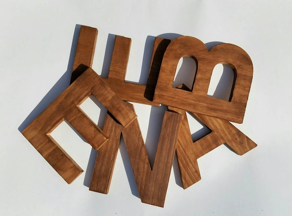 standing letter decor wooden letters for nursery decorative letter rustic wooden 24968 | il 570xN.1094165857 7asn