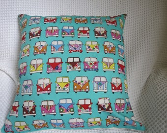 Camper Van cushion cover.  Hand made in high quality fabric. Hippy.