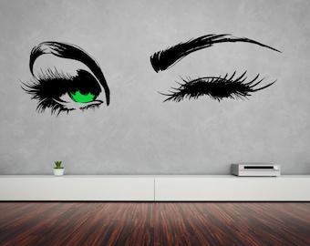 Beautiful Eyes Removable Wall Art Decor Decal Vinyl Sticker