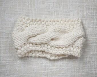 The Lyndsay Headband (Cream, Oatmeal & White/Grey Multi)
