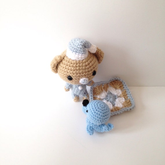 Amigurumi Baby Shower Bears : Crochet Bear Plush Baby Rattle Gift for Baby Amigurumi Bear