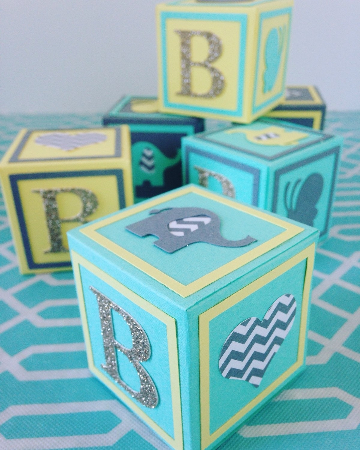 small alphabet blocks baby shower decorations baby shower