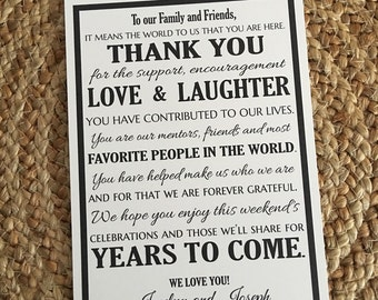 Wedding Welcome Letter- Destination Wedding Welcome- Wedding Thank You Letter-Wedding Thank You Letter- Customizable