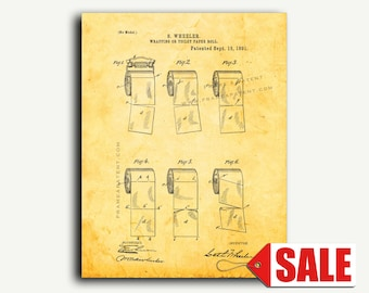 Patent Art - Toilet Paper Roll Patent Wall Art Print