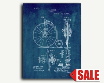 Patent Print - Bicycle Patent Wall Art Poster