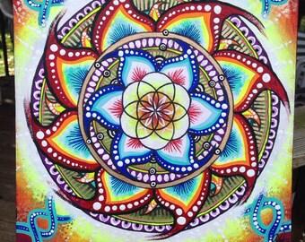 Square Seed of Life Sacred Geometry Mandala