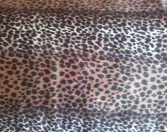 VIntage 1960's 60s Leopard print polyester Scarf UK Shop