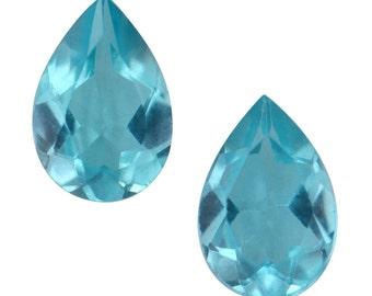 Paraiba Apatite Loose Gemstones Set of 2 Pear Cut 1A Quality 6x4mm TGW 0.65 cts.