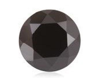 Thai Black Spinel Round Cut Loose Gemstone 1A Quality 9mm TGW 3.00 cts.