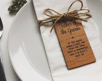 Father Of The Groom Wooden Place Setting