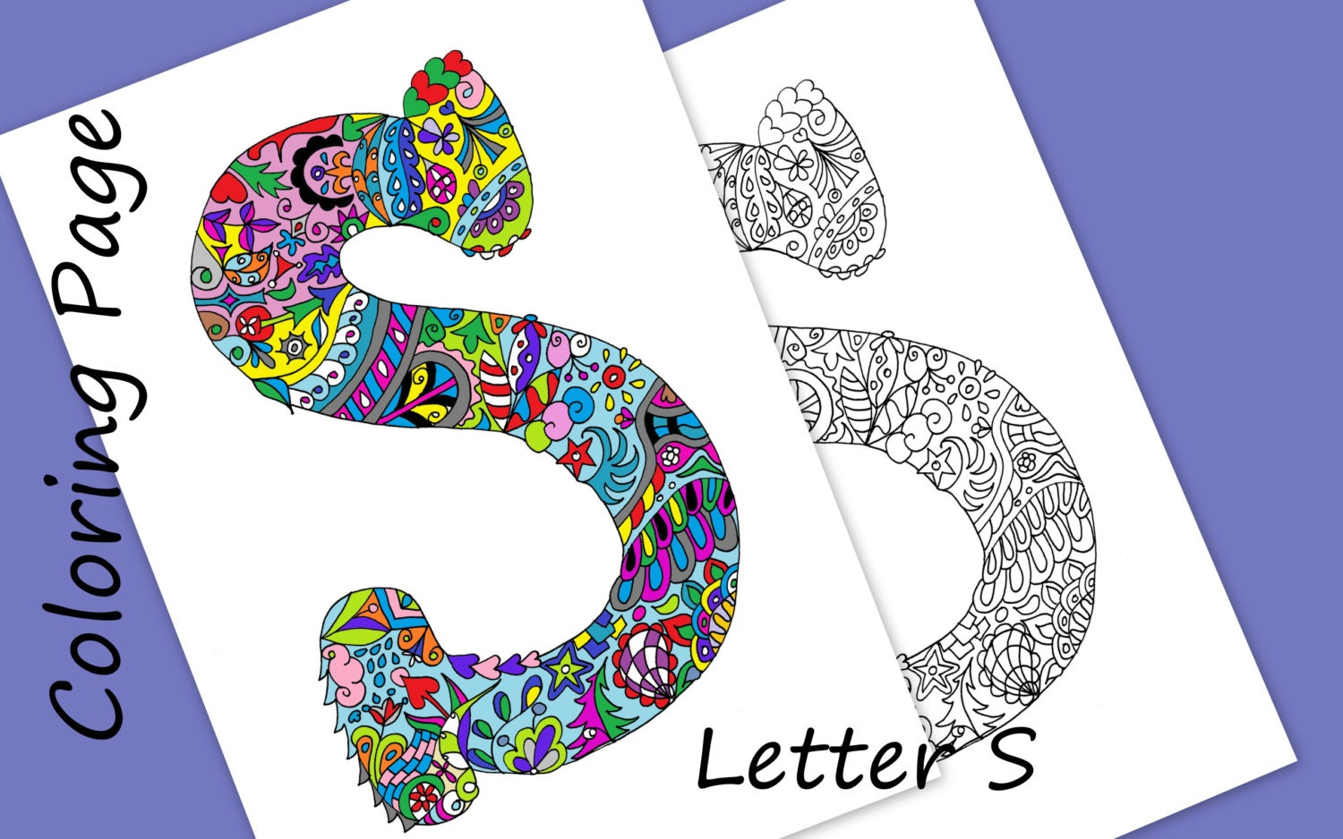 Zentangle Letters To Print And Color