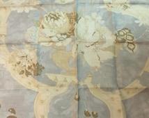 "Toile Fabric Ralph Lauren Fabric Hathersage Floral Shale LCF66148F 26"" x 26"" 100% Linen"