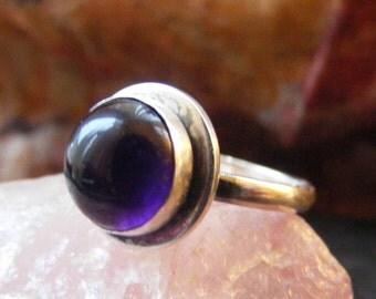 Silver Amethyst Ring, Sterling silver amethyst ring