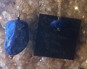 Lapis Lazuli, Pyrite and 14K Gold Fill Pendulum