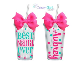 Best Nana Cup Acrylic Tumbler 16oz Nana Grandma Mother's Day Gift Cup Kitchen Accessory Everything Else 16 oz. Acrylic Cup BPA Free Custom