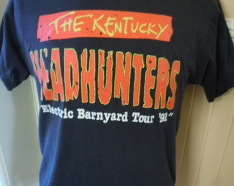 Size L (44) ** Rare 1991 Kentucky Headhunter Concert Shirt (Double Sided)