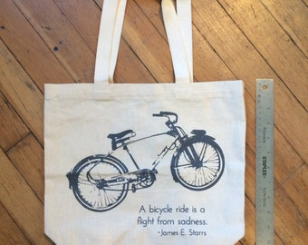 Monark Vintage Bicycle Canvas Totes