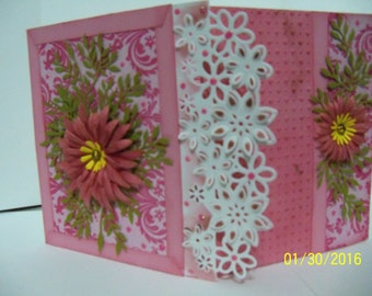 decorative gate fold card