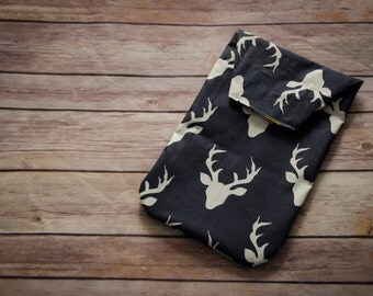 Buck Head Diaper Clutch, Deer Head Diaper clutch, Diaper Wallet, Diaper Organizer, Baby Boutique, Baby Gift, Antler Diaper Wallet, Twilight