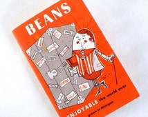 SUMMER CLEARANCE Vintage 'BEANS Enjoyable The World Over' Promotional Recipe Book