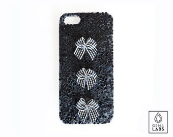 Glitter and ribbon case iphone 5