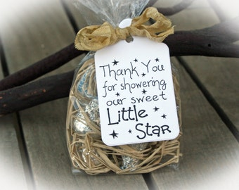 Twinkle Twinkle little star Baby Shower Favor | Twinkle Twinkle Little Star Shower | Baby Shower Favor | 25 DIY Kits/Ivory Tag/Ribbon