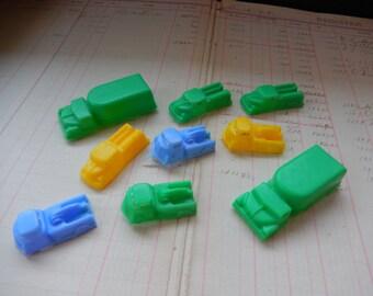 9 Piece Vintage Plastic Truck Toy Lot