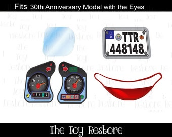 Germany : New Replacement Decals Stickers fits 30th Anniversary Little Tikes Tykes Cozy Coupe Car (with Eyes)